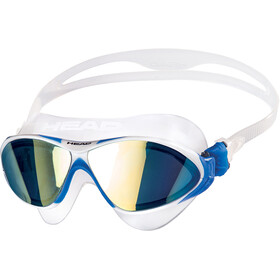 Head Horizon Mirrored Okulary pływackie, clear/white/blue/blue